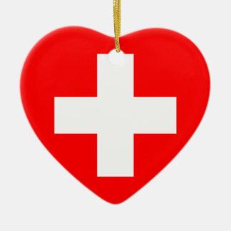 Civil Ensign Of Switzerland Sweden flag Christmas Tree Ornament