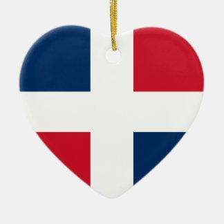 Civil Ensign Of The Dominican Republic, Denmark Ceramic Ornament