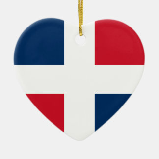 Civil Ensign Of The Dominican Republic Denmark Christmas Tree Ornament
