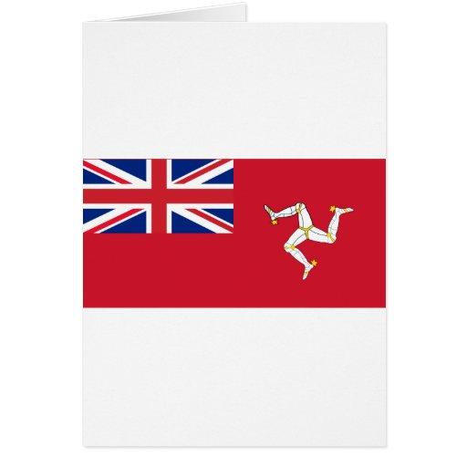 Civil Ensign the Isle Man, United Kingdom Greeting Card