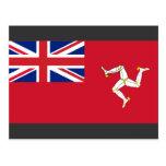 Civil Ensign the Isle Man, United Kingdom Post Card