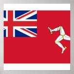 Civil Ensign the Isle Man, United Kingdom Poster
