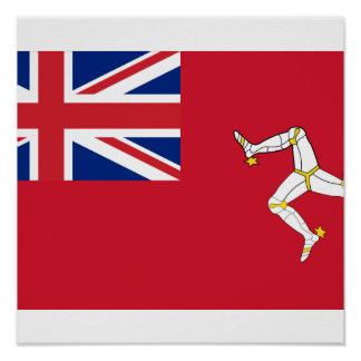 Civil Ensign the Isle Man, United Kingdom Poster