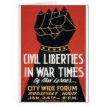 Civil Liberties in War Times Card