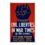 Civil Liberty WWII 1940 WPA Poster
