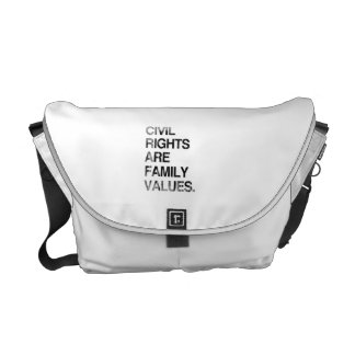 CIVIL RIGHTS ARE FAMILY VAL Faded.png Courier Bag