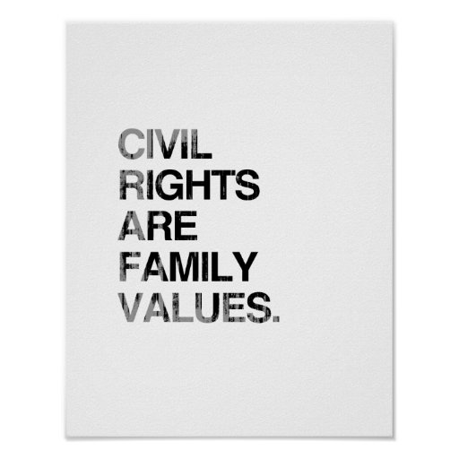 CIVIL RIGHTS ARE FAMILY VAL Faded.png Print