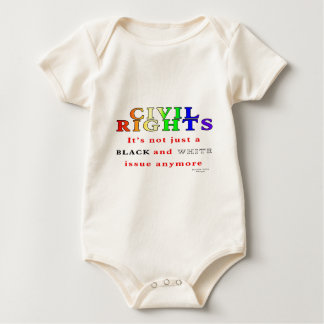 Civil Rights, Not Just Black and White Baby Bodysuit