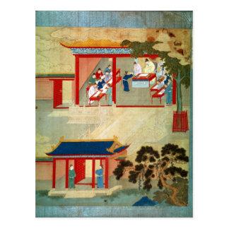 Civil Service Exam Under Emperor Jen Tsung Postcard