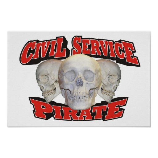 Civil Service Pirate Poster