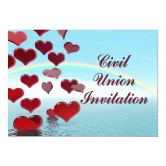 Civil Union Ceremony invitation