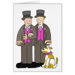 Civil union gay marriage two men and a dog. greeting card