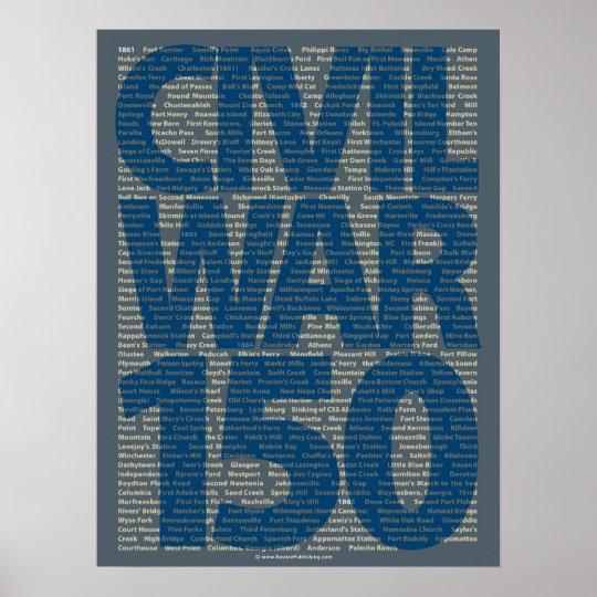 Civil War 150th Anniversary Battle Poster