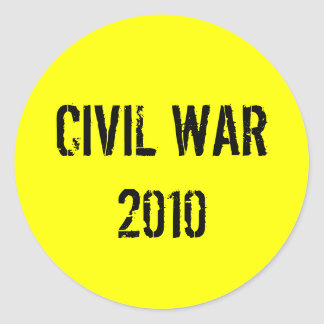 CIVIL WAR 2010 ROUND STICKER