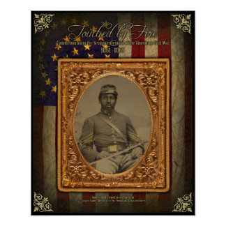 Civil War Afrcan American Cavalry Sergeant Poster