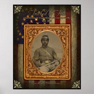 Civil War Afrcan American Cavalry Sergeant Poster