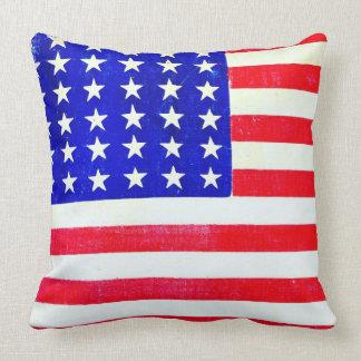 Civil War American Flag 1865 Pillow