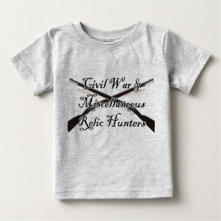 civil war and misc relic hunters baby shirt