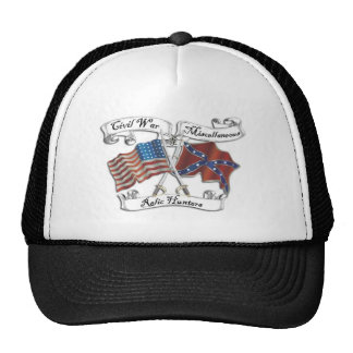 civil war and misc relic hunters logo hat