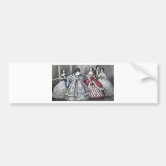 Civil War Antebellum Fashion Ladies Ball Gown Bumper Sticker
