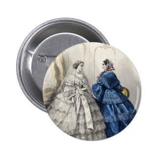 Civil War Antebellum Fashion Ladies Ball Gown Buttons