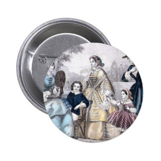 Civil War Antebellum Fashion Ladies Ball Gown Pinback Button