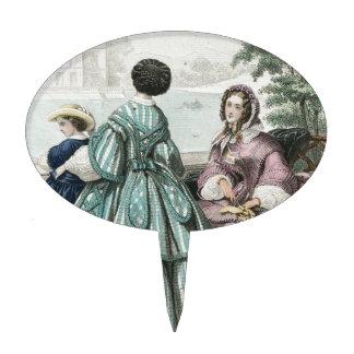 Civil War Antebellum Fashion Ladies Ball Gown Cake Topper