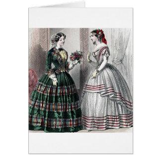 Civil War Antebellum Fashion Ladies Ball Gown Cards