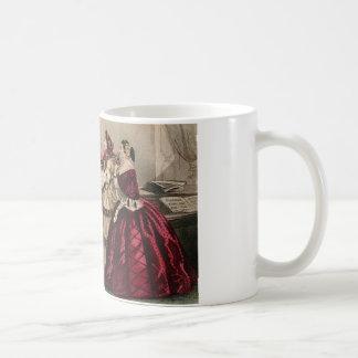 Civil War Antebellum Fashion Ladies Ball Gown Coffee Mug