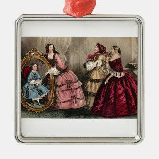 Civil War Antebellum Fashion Ladies Ball Gown Metal Ornament