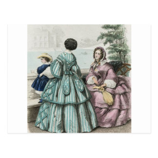 Civil War Antebellum Fashion Ladies Ball Gown Postcard