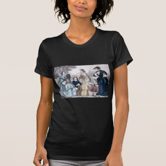 Civil War Antebellum Fashion Ladies Ball Gown T Shirt