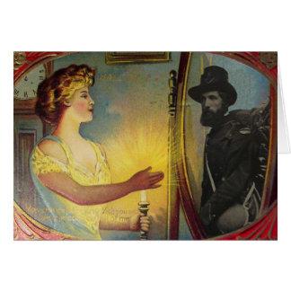 Civil War Apparition (Vintage Halloween Card)