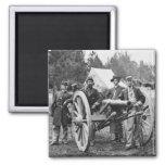Civil War Artillery, 1860s 2 Inch Square Magnet