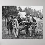 Civil War Artillery Group, 1860s Poster