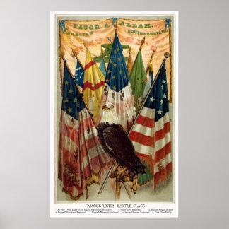 Civil War Battle Flags no.1 Poster