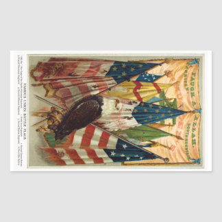 Civil War Battle Flags no.1 Rectangular Sticker