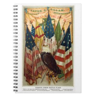Civil War Battle Flags no.1 Spiral Notebook