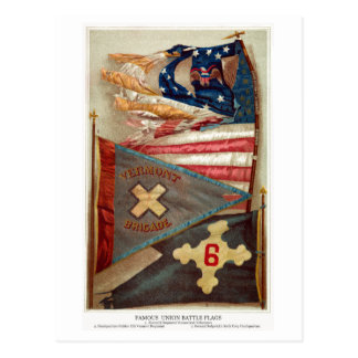 Civil War Battle Flags no.2 Postcard