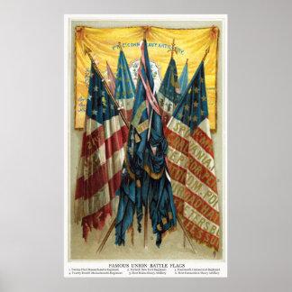 Civil War Battle Flags no.3 Poster