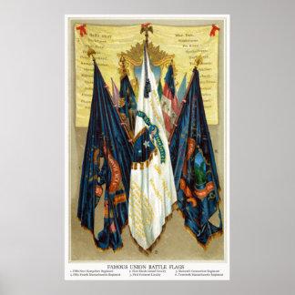 Civil War Battle Flags no.4 Poster