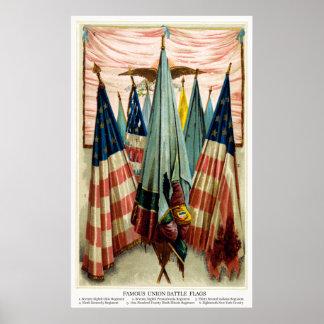 Civil War Battle Flags no.5 Poster