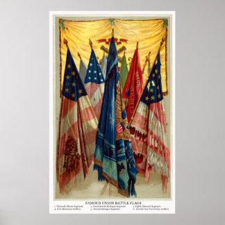 Civil War Battle Flags no.6 Poster