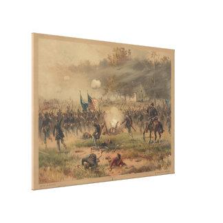 Civil War Battle of Antietam Sharpsburg Print Canvas Print