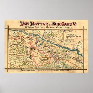 Civil War Battle of Fair Oaks Poster