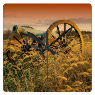 Civil War Battlefield / Cannon Photo Wall Clock