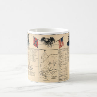 Civil War Battlefield of Harrisburg Map 1864 Coffee Mug