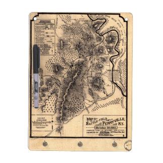 Civil War Battlefield of Perryville Kentucky Map Dry Erase Board
