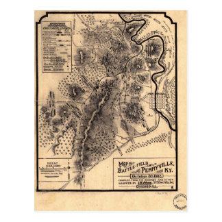 Civil War Battlefield of Perryville Kentucky Map Postcard