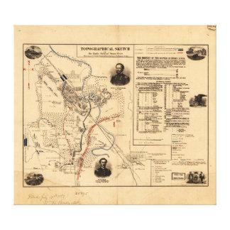 Civil War Battlefield of Stone River Dec. 31, 1862 Canvas Print